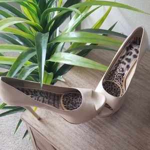 Taupe Platform Heels